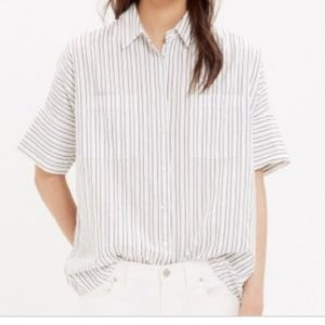 Madewell Pinstripe Courier Button-Down Shirt